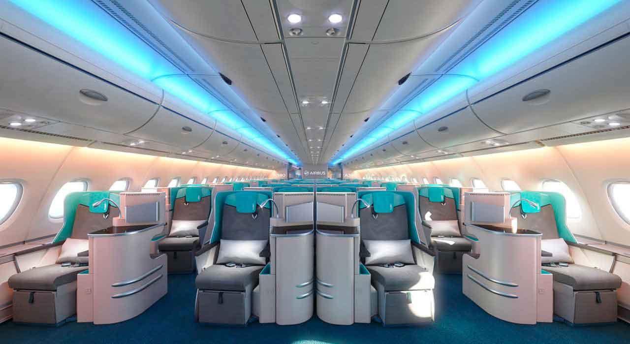 Interior del Airbus A380