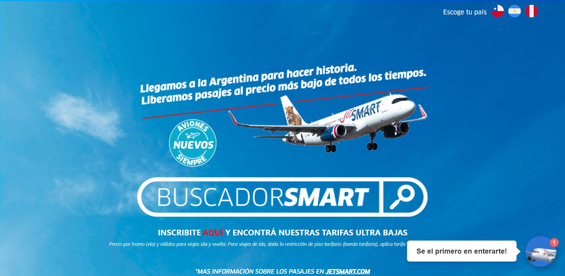 Página web de Jetsmart
