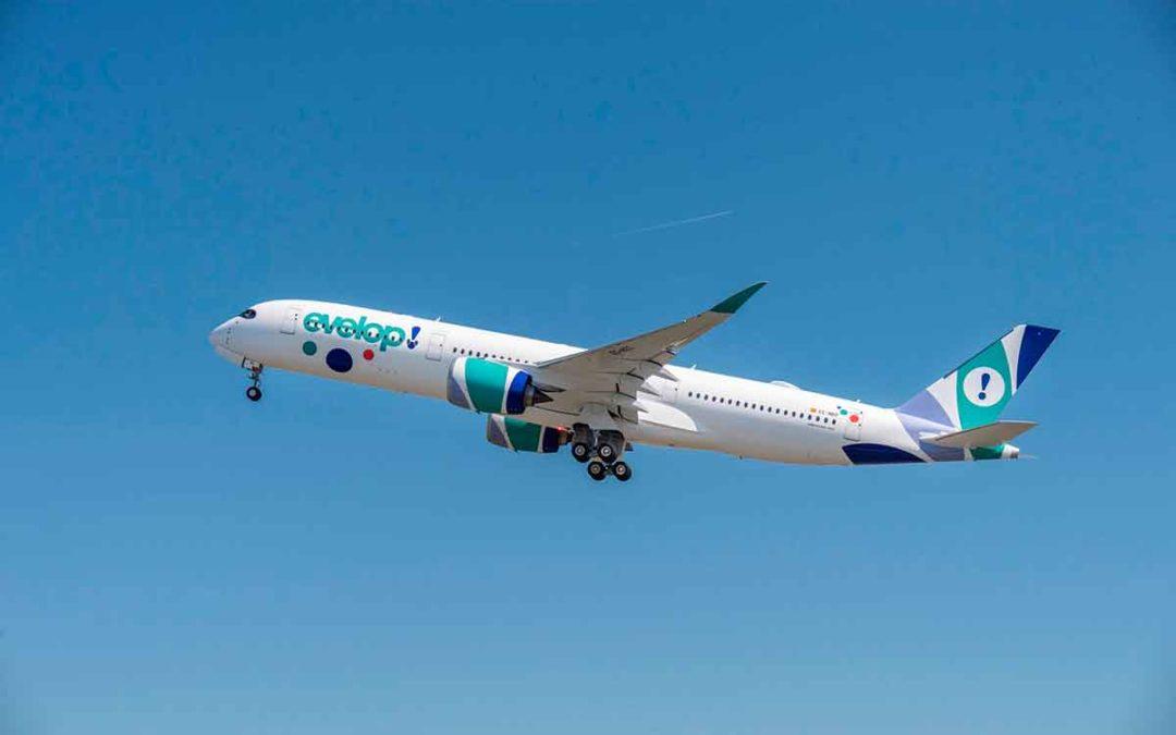 La aerolínea española Evelop estrena nuevo avión Airbus A350-900