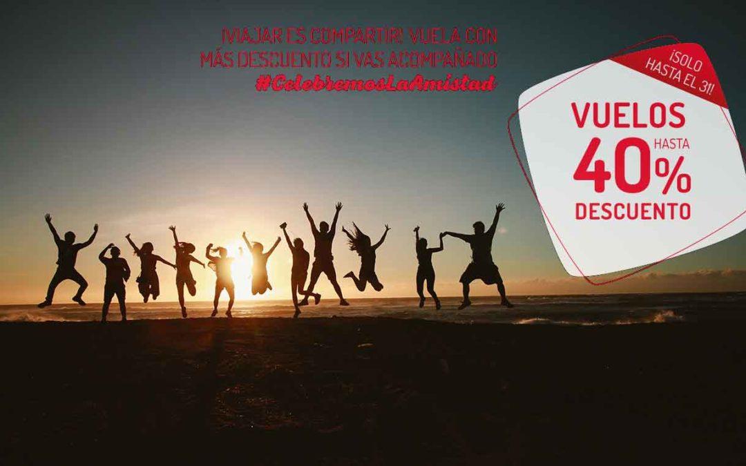 Descuentos de 40% para celebrar la amistad con Iberia Express