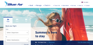 Página web de Blue Air